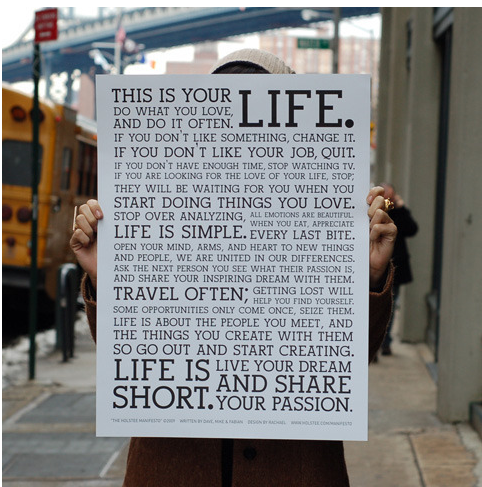 Life Manifesto, Inspiration